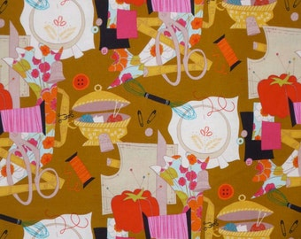 SPECIAL--Sew Retro Print Pure Cotton Fabric from Alexander Henry--One Yard