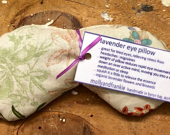 Lavender eye pillow / yoga / meditation / relaxation / organic LAV1122