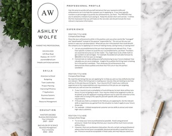 Attrayant Modern Resume Template | Resume Template For Word And Pages | 1, 2, 3