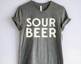 Sour Beer Shirt // Craft Beer Tshirt // Homebrewer Tee // Beer Geek Nerd T-shirt // Beer Brewing Gift