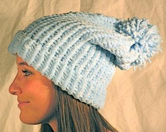 Powder Blue Slouch Hat
