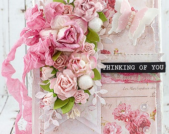 Shabby Chic Thinking of You Friendship / Get Well / Illness / Encouragement / Just Because Card
