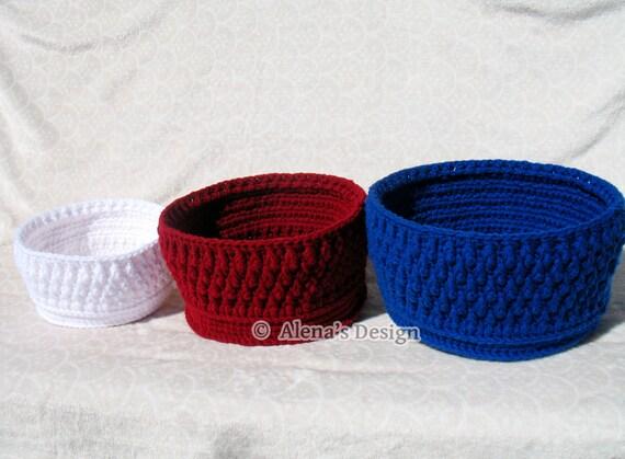 Crochet Basket Pattern 164 Nesting Baskets in three sizes Crochet Patterns Basket Pattern Storage Round Baskets Crochet Pattern Home Decor