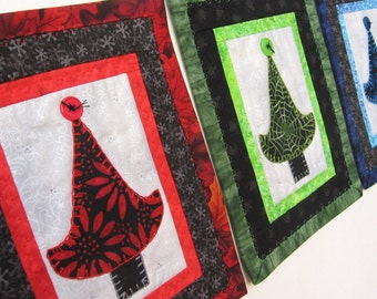 Red and Black Tree Quilt