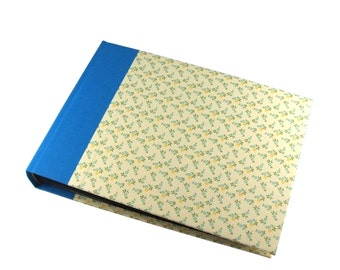 floral Wedding Album, forget me not flower photo album or guestbook