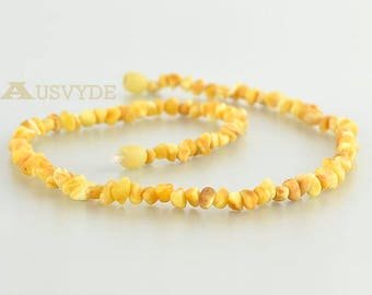 Raw chips amber necklace, Amber necklace, Baltic amber, Wonderful source of health. ~43 cm (~16,9 inch). 5765