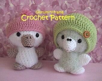 crochet fuzzy bird pattern, amigurumi crochet toy chick stuffed plush tutorial,  PDF guide instant download