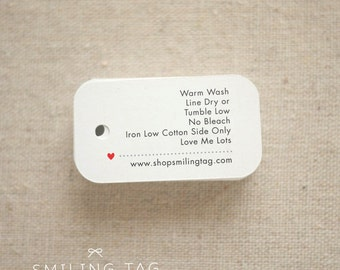 Personalized  Care Labels Instructions Tags - Etsy Product Tag - Clothing Care Tag  - Etsy Shop Labels Hang Tag- Set of 30 (Item code: J253)