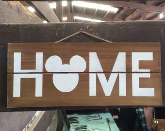 Disney Home Wood Wall Sign