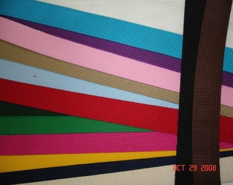 5 Yards of Heavy Weight Cotton Webbing   choose color