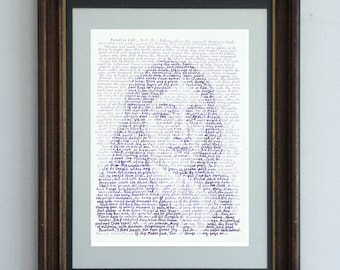 John Milton, a portrait of the masterful poet, from Book 9 of Paradise Lost, when Satan enters the snake and tempts Eve in Eden
