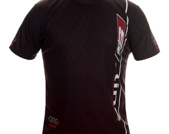 Audi Quattro Black Red Points Short Sleeve Cool T Shirt Auto Car Graphics Tee