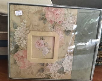 New in box floral photo album