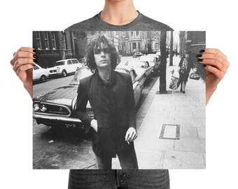 Syd Barrett Poster. Pink Floyd Poster, Premium Semi-Gloss Photo Paper Poster