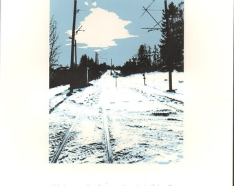 Winter sun in Trondheim : a limited edition silkscreen print