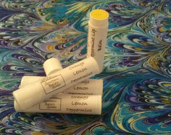 Orange Lemon Peppermint Beeswax Lip Balm, Beeswax Chapstick