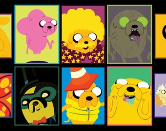 Adventure Time - Jake the Dog Sticker 10pk