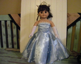 "18"" Doll Clothes, Fancy Evening Gown, Prom dress, Fits American Girl Dolls, Our Generation dolls"