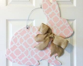 spring bunny door hanger