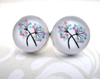 Miss Shabby-Earrings shabbychic steam Flower Dandelion