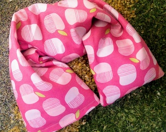 Microwavable heating pad - Flaxseed Neck Wrap with Washable Pillow Cover GOTS Organic Cotton - Flax seed pillow
