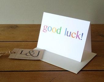 Good Luck Card, New Job Card, Good Luck Cards, Encouragement Card, Card For Friend, Exam Card, Greetings Card, Good Luck, New Job Cards