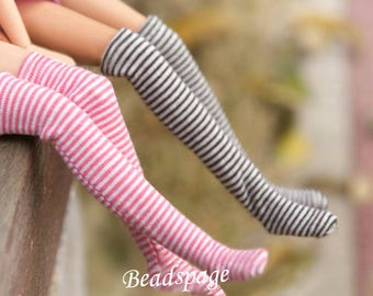 Doll Socks for 1/6 scale Barbie Blythe Licca DAL Pullip - Cute Kawaii Dolls Lolita Fashion Accessories