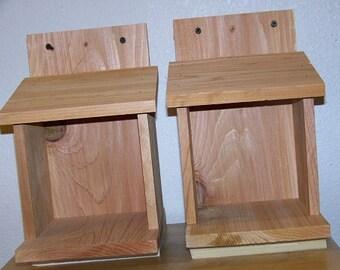 2 Robins, Doves, Cardinals Nesting Shelve Platform Handmade By Cedarnest Free S/h