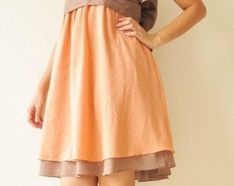 Wind of change Part II.... Orange-Brown Cotton Dress