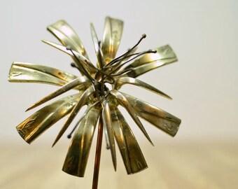 Midcentury Eames Era Raul Zuniga Casa Del Arte Floral Found Objects Metal Spoons Fork Art Sculpture