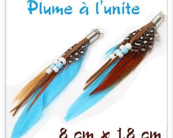 L ' unit Turquoise feather pendant