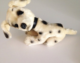 60s Kamar Stuffed Spotted Sad Eyed Puppy Dog