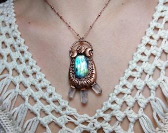Labradorite Lunar Goddess Necklace
