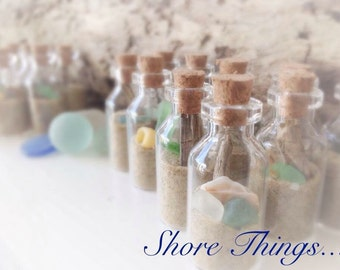 20 pcs Wedding Favors, Beach in a Bottle, Wedding Gifts, Beach Wedding Favors, Nautical Wedding Favours Favors