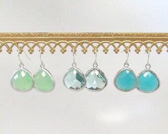 Silver Drop Earrings - Bridesmaid Earrings - Bridal Earrings - Silver Earrings - Dangle Earrings - Drop Earrings