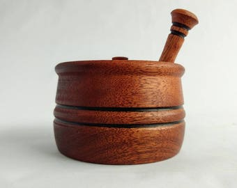 Hand Turned Honey Pot with Dipper