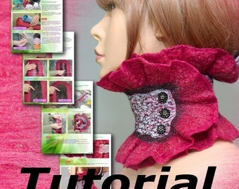 Felted Scarflette Tutorial Nunofelting in Russian PDF