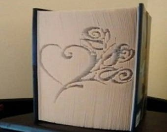 """Carving book """"Pink heart"""""""