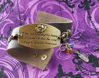 Friend Quote Bracelet