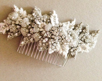 Bridal Hair Comb Zulu ( Made to Order)