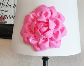 Lovely Pink Dahlia Flower Lamp Shade Applique  Lamp Shade Magnetic Flower  Embellishment  NEW BEDBUGGS COLLECTION