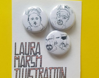 Breaking Bad pin badges