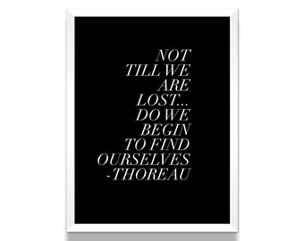 Henry David Thoreau Poster, Thoreau Quote, Literature Poster, Literary Gift