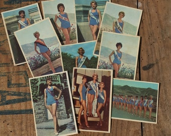 10 small trading card / miss Europe 1961 by the Lebanon Election / France