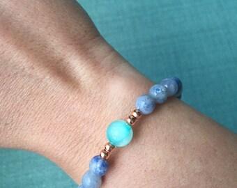 Mala Bracelet, Wrist Mala, Mala Beads,Aventurine Mala Bracelet,Blue Aventurine Bracelet,Yoga Gift,Healing Bracelet,Yoga Bracelet,Mala,BMBA