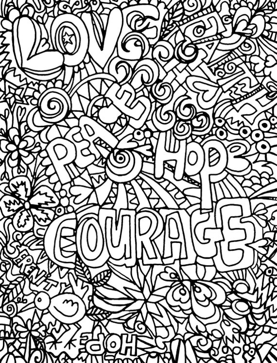 Inspirational Coloring Book Page