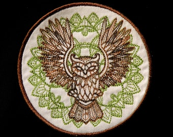 """Owl Iron on Patch 4.5"""""""