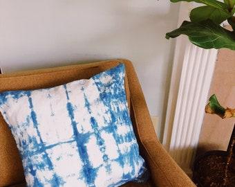 Shibori Indigo Dyed Pillow Cover