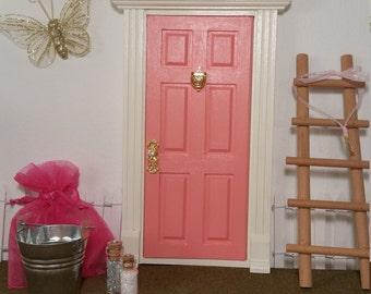 Kids Opening Fairy Door, Handpainted in Melon!