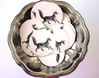 Fox Tags Round Paper Gift Tags Set of 10